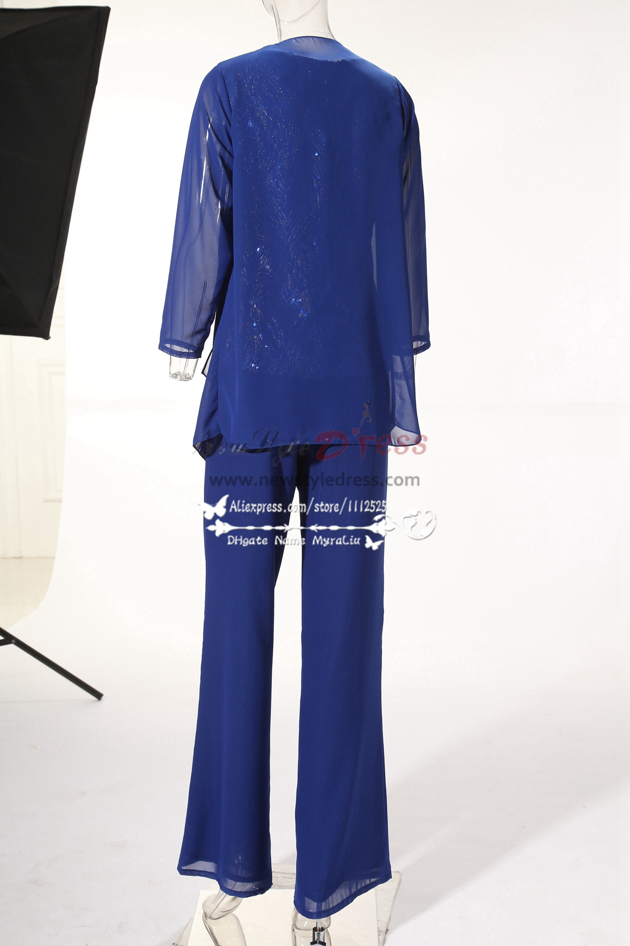 2018 new arrival chiffon mother of the bride pant suits