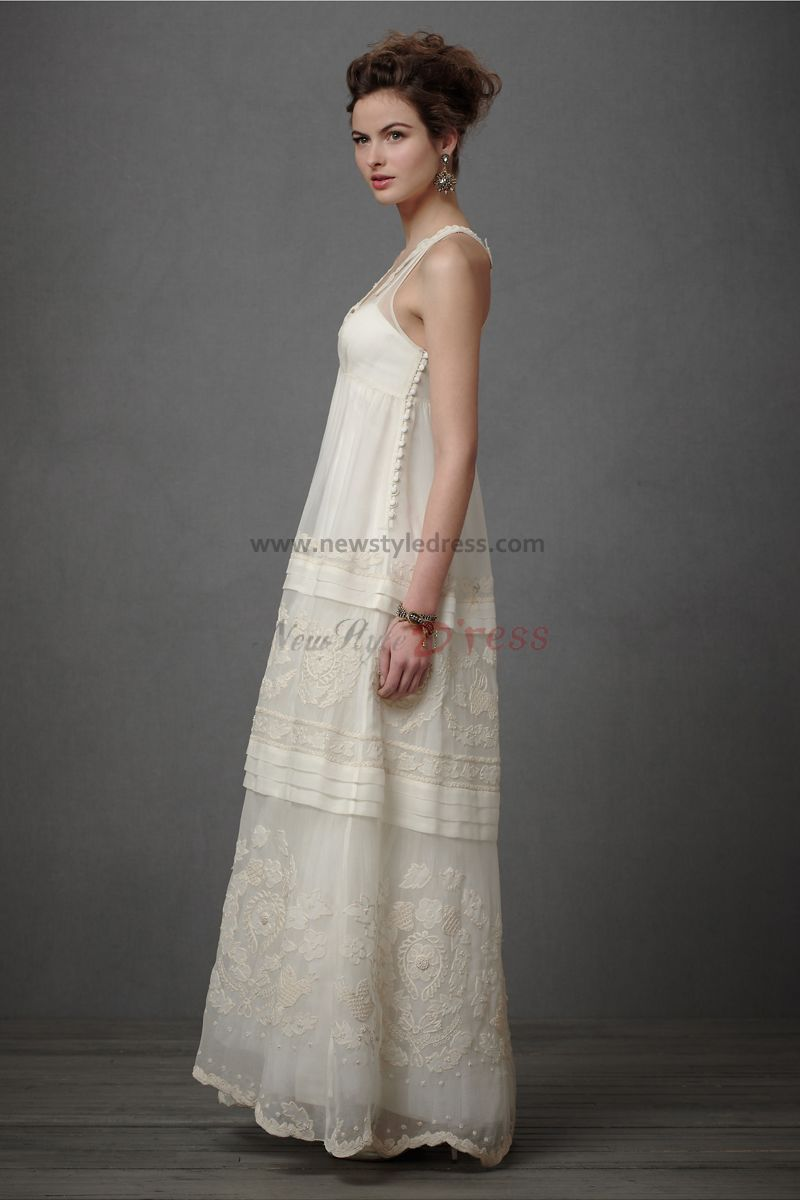 Vintage informal wedding dresses bridesmaid dresses for Wedding dress casual style
