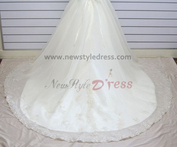 Wedding Gown Under 200: Ball Gown Tank Appliques Sweep Train Under 200 Discount