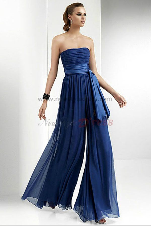 Royal Blue Chiffon Party Wedding Bridesmaid Dress
