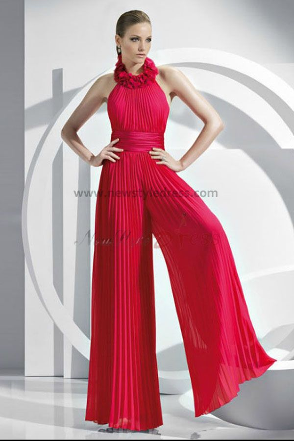 5bf855444337 Fashion red Chiffon mother of the Wedding party Jumpsuits nmo-045