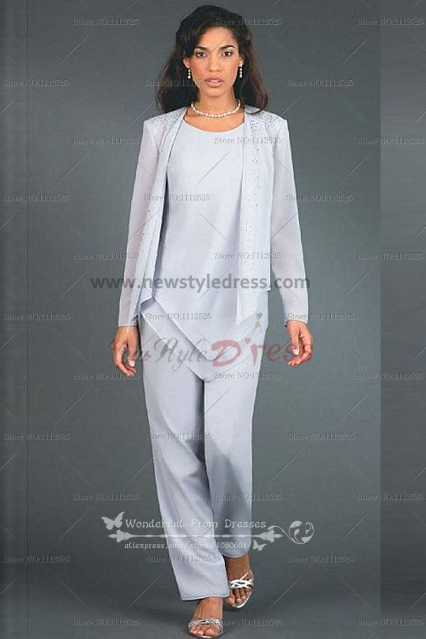 Hand Beading Elegant Elastic Pants Mother Of The Bride Suit Nmo 105