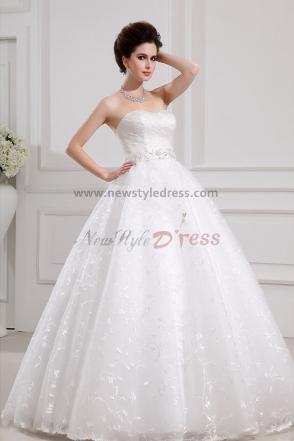 Lace Sweetheart Glamorous Floor-Length Ball Gown ...