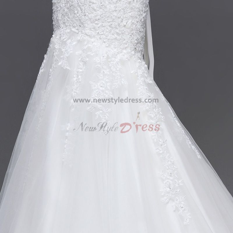 Wedding Gown Under 200: Mermaid Beading Bow Lace Wedding Under $200 Dresses