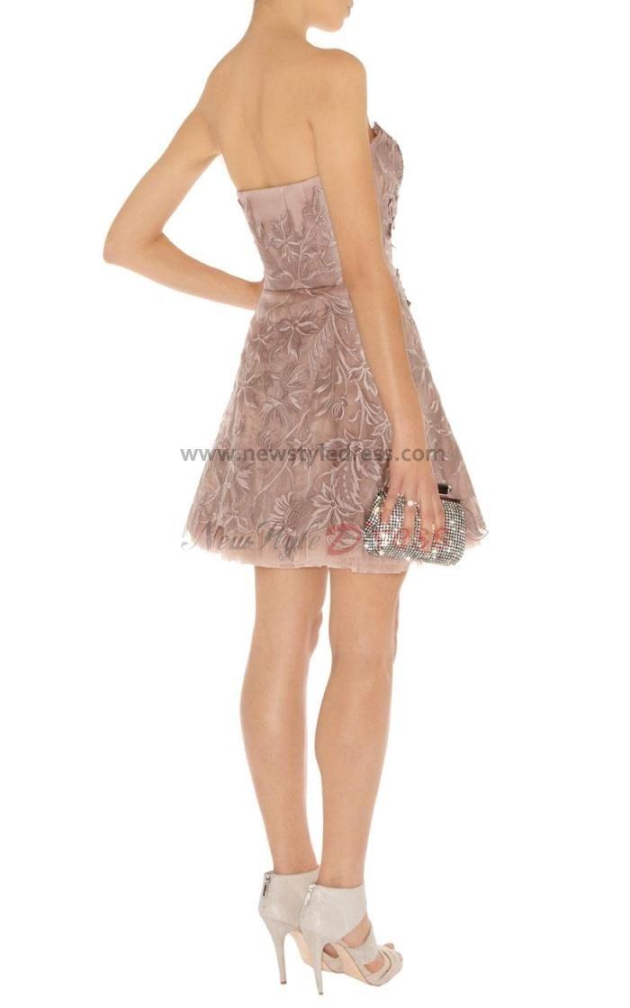 Silver knee length evening dresses