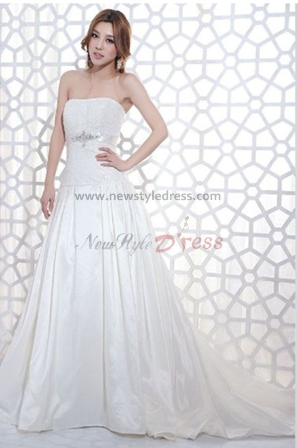 line summer cheap brush train wedding dress under 200 nw 0120