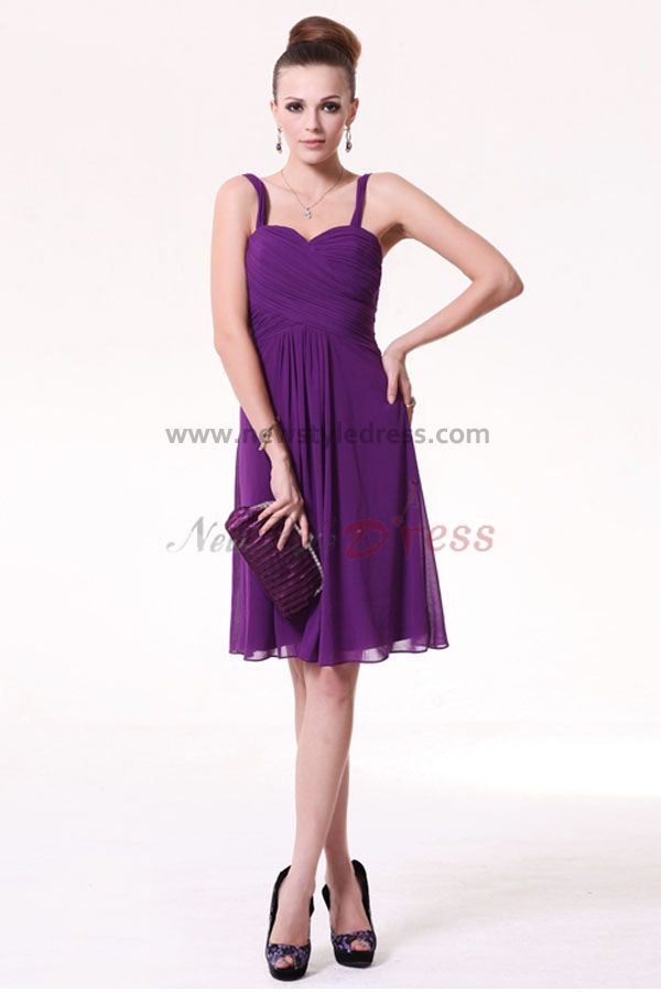 Short Purple Bridesmaid Dresses Under 100 - Wedding Short Dresses