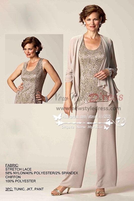 Lace and Chiffon Wedding Pants