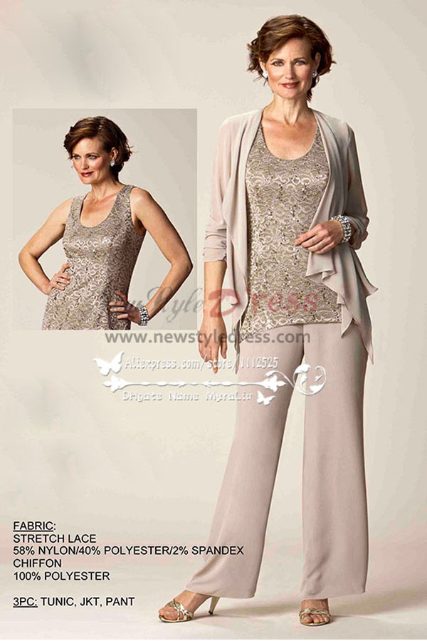 Elegant Mother Bride Pant Suits