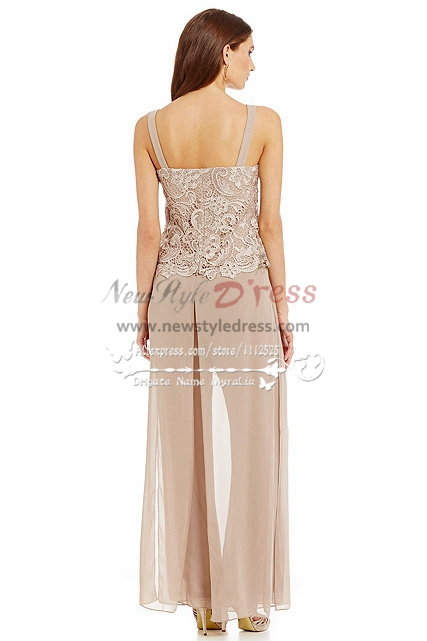 Champagne Lace 3pc Pantset Mother Of The Bride Pant Suits Summer