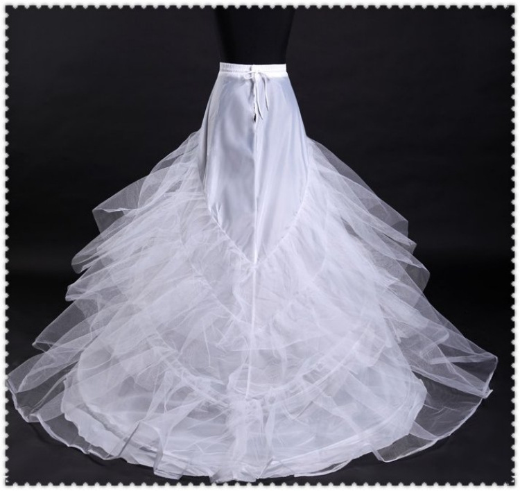 Cheap Court Train Multilayer Organza Wedding Petticoats Wp 001