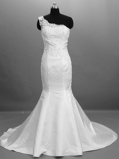 lace Pattern Hand-beading Mermaid Glamorous Sweep Brush Train Wedding dresses nw-0029