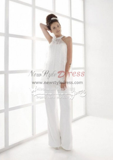 Elegant bridal pantsuits for wedding wps-060