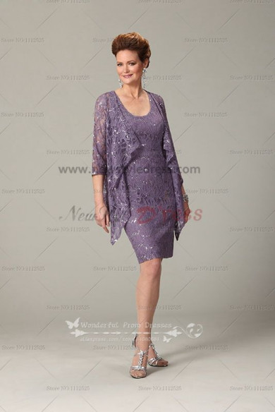 2015 New Arrival Elegant Grape lace mother of the bride dresses outfits cms-049