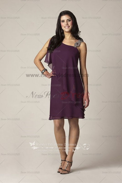 grape Knee-Length Glamorous chiffon mother