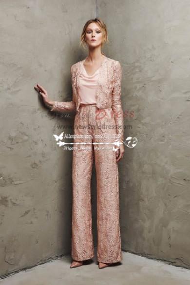 Elegant Pink lace pant sutis for mother of bride