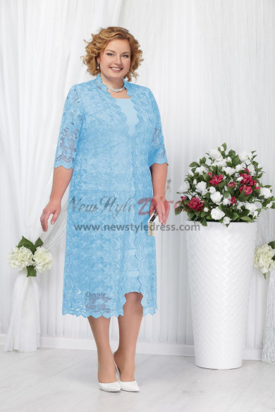 Sky Blue Fashion Plus Size Mother of the Bride Dresses nmo-346