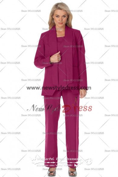Rose Red Elegant Cheap Mothers of the bride Pants Suit nmo-115