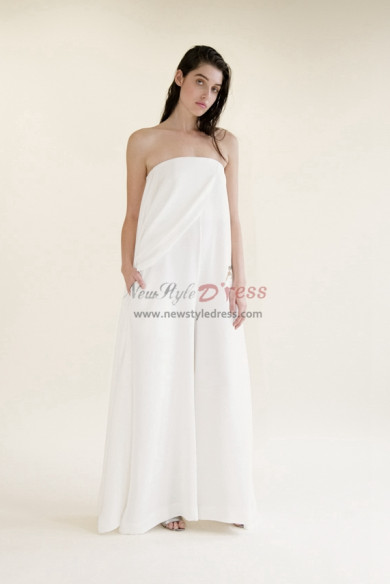 Strapless Bridal Jumpsuits dresses Summer wedding pantsuits wps-135