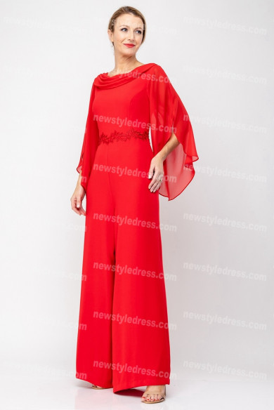 2020 New arrival Red Mother of the bride jumpsuits nmo-675