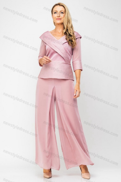 2020 Pink Mother of the bride pants suit 2PC Trousers sets nmo-687