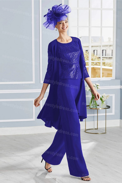 Royal Blue Mother of the bride Trousers sets women