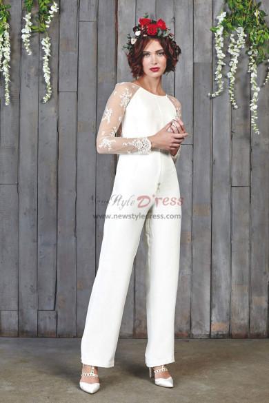 Elegant lace Sleeves Wedding bridal Jumpsuits wps-144