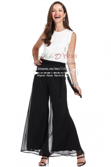 2019 Fashion Modern chiffon mother of the bride pant suits nmo-164