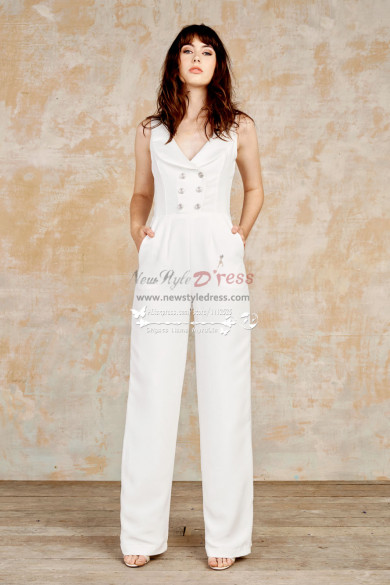 Modern fashion wedding jumpsuit dresses wps-092