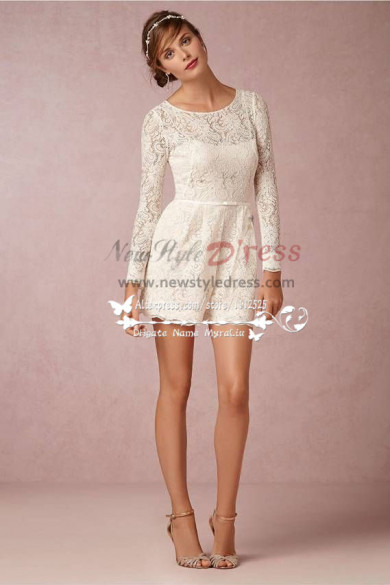 lace shorts pant suits Jumpsuits for bride vintage wps-001