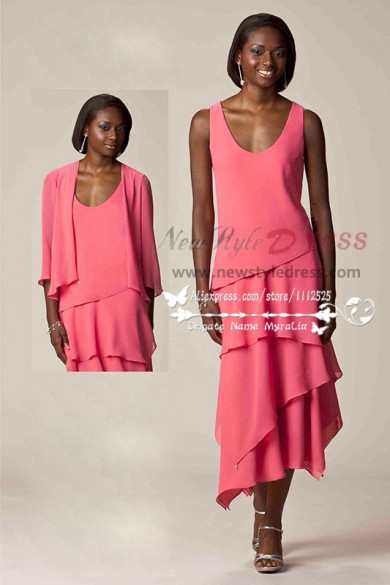 2016 Watermelon Tiered Dressy Women