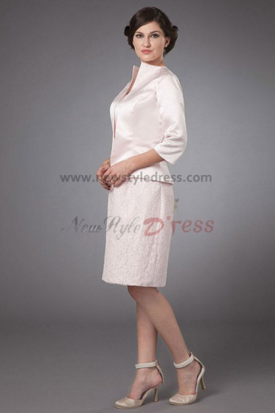 Champagne lace Knee-Length Gorgeous Mother of the bride suit dress cms-031