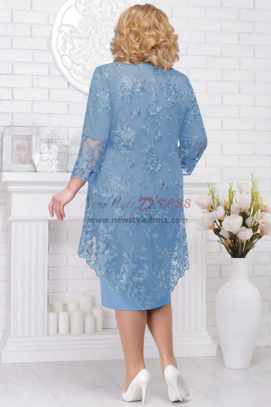 Sky blue Mother of the bride dress Plus size women