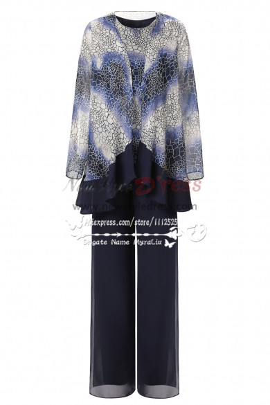 Latest Fashion Pattern Spring Loose mother of the bride pant suit nmo-276