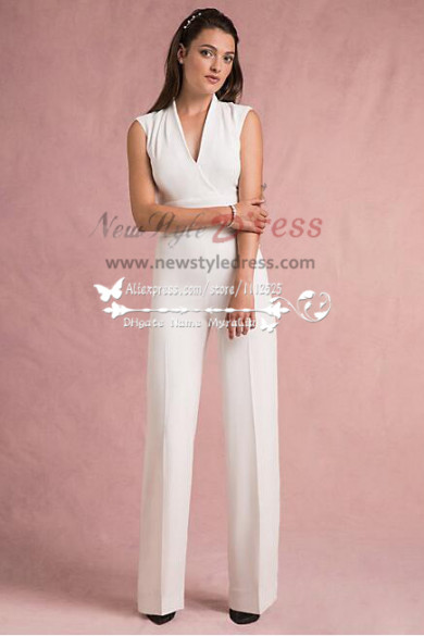 Modern simple style wedding jumpsuit wps-020