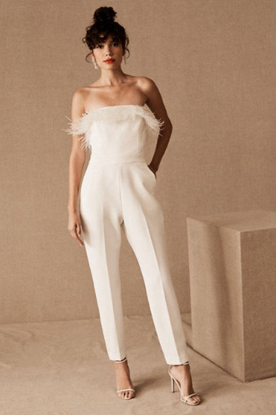 2020 Strapless Guest Jumpsuits Bride Outfits wps-225