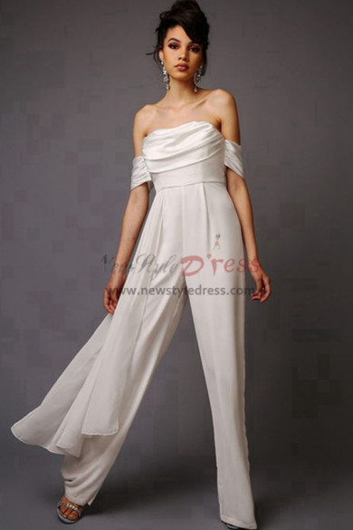 Beach Bridal Jumpsuits Chiffon wedding pants dresses wps-110