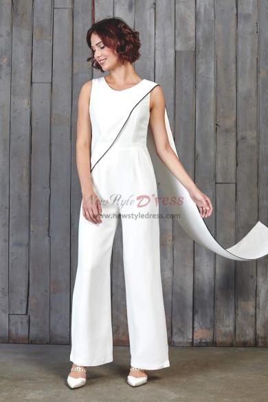 2019 Fashion Bridal Jumpsuits With Shawl wps-124