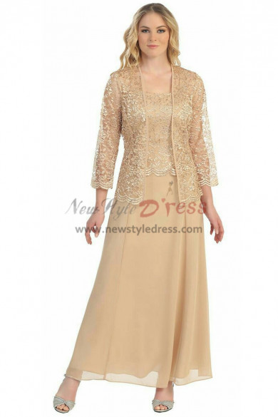 2019 Fashion Champagne Mother of the bride dresses nmo-327