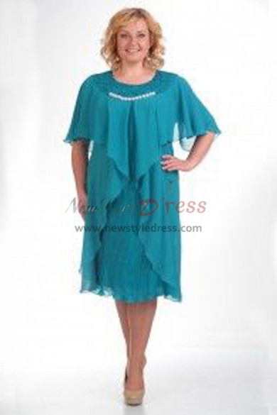 2019 Hot Sale Light Blue Dressy Mother Of The Bride Dresses nmo-374