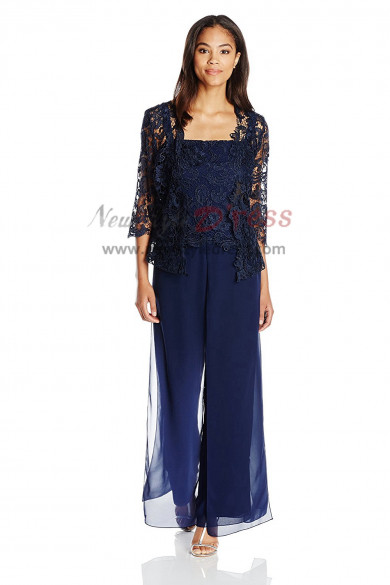 2019 NEW ARRIVAL Dark lace Mother of the bride pants suits dresses nmo-412