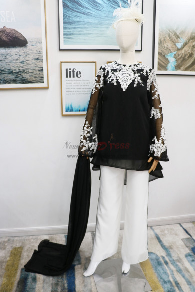 2019 New arrival Mother of the bride pant suits dresses with shawl Real pic nmo-604