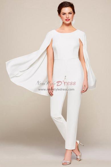 2019 New Style Fashion Chiffon Bridal Jumpsuits With Cape wps-128