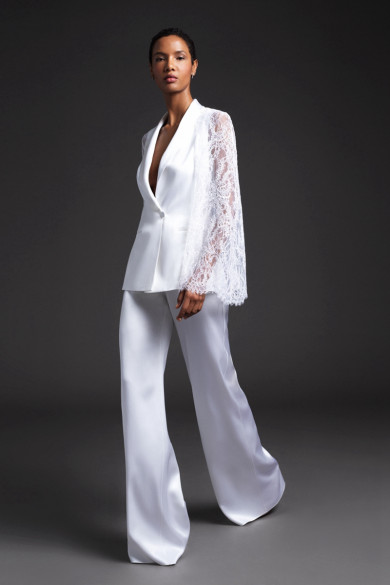2021 Modern Wedding Jumpsuit Long Sleeves Women Prom Suits wps-210