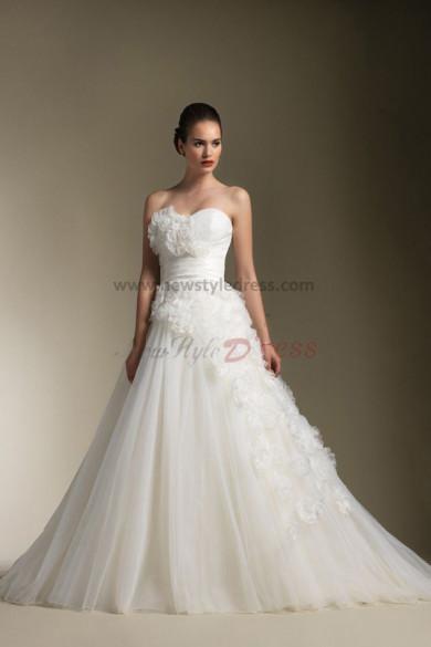 A-Line Princess Elegant Latest Fashion Wedding Dress nw-0303
