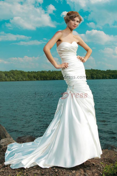 Draped Beach Beach Gorgeous cheap under 150 wedding dress nw-0233