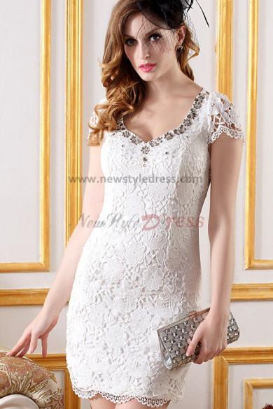 Elegant Off the Shoulder hip package Appliques Blue/Pink/White Cocktail Dresses nm-0245