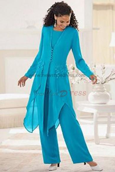 Light Sky Blue modren Cheap Latest Fashion prom dress pants sets nmo-092