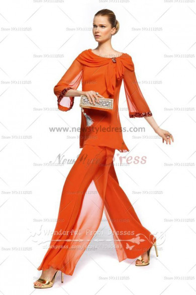 Orange Fashion sping prom dress pants sets nmo-071