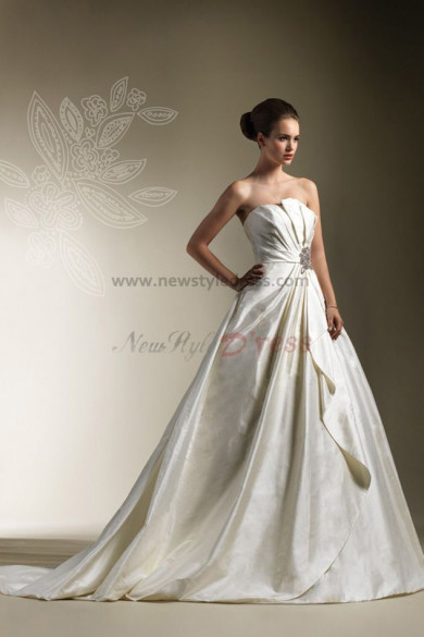 Strapless A-Line Glamorous Ball Gown Dress nw-0302